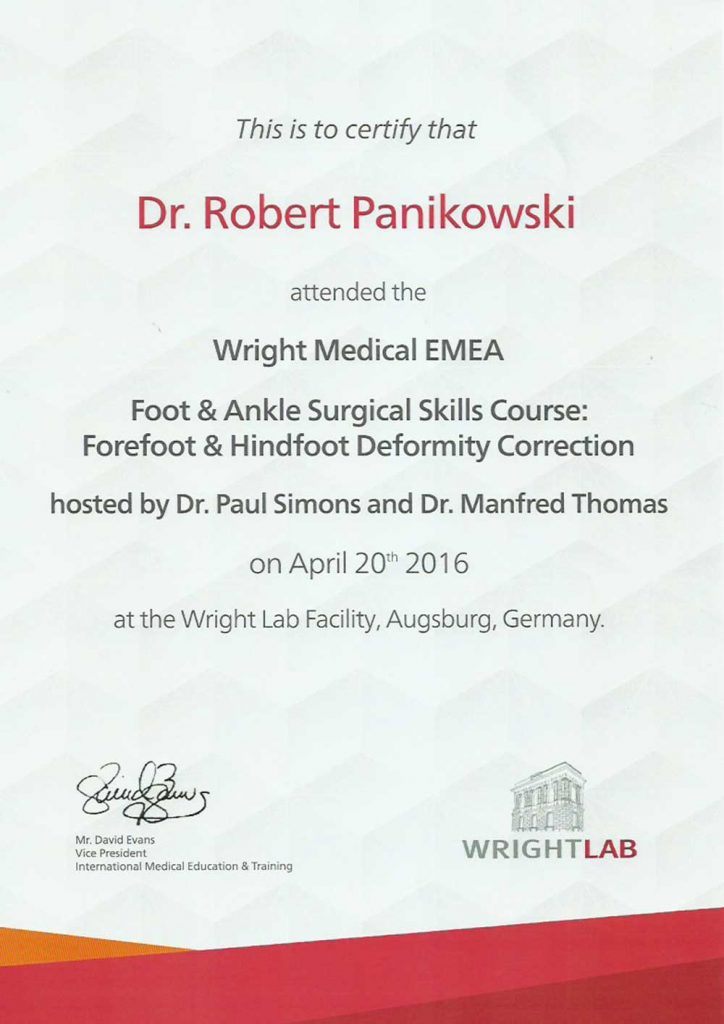 LEK MED ROBERT PANIKOWSKI Foot Ankle Surgical Skills Course Forefoot Hindfoot Deformity Correction