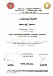 LEK-DENT-MACIEJ-OPACH-IV-Miedzynarodowa-konferencja-stomatologiczna-zachod-wschod